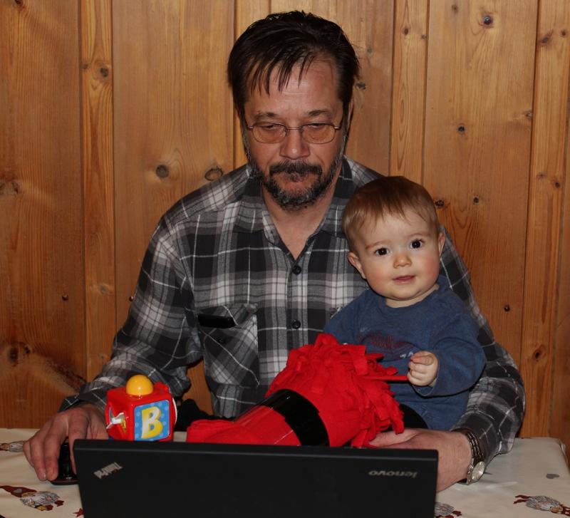 Mann og barnebarn