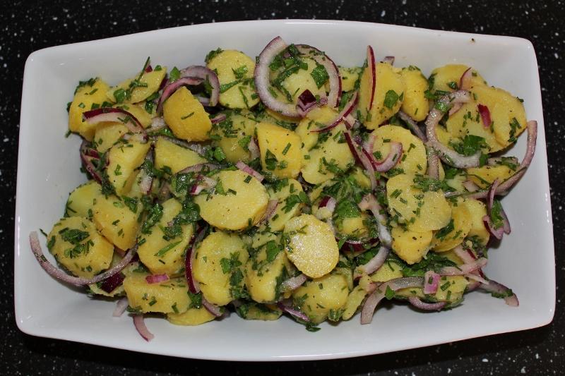 potetsalat med creme fraiche og majones