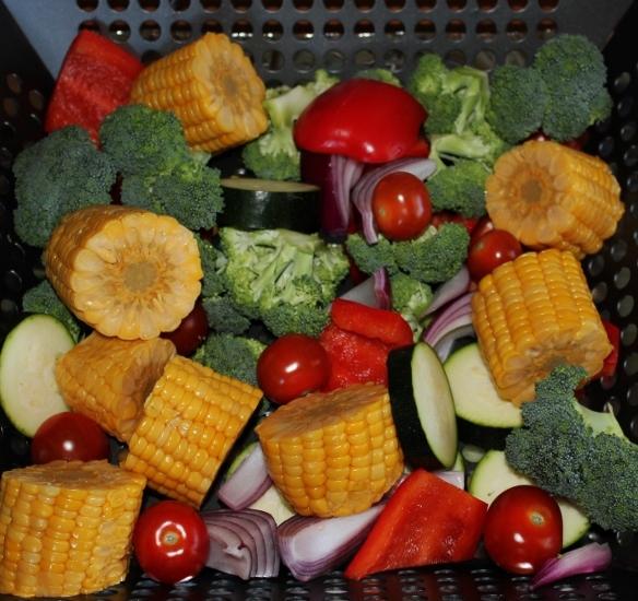 Grille grønnsaker