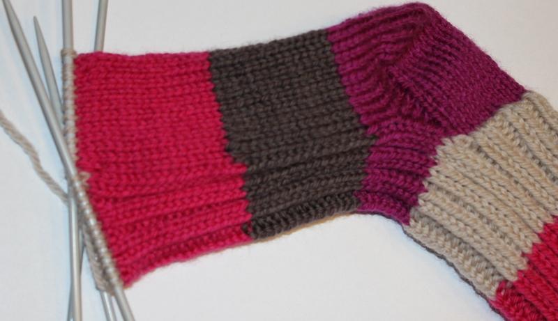 strikke sokk