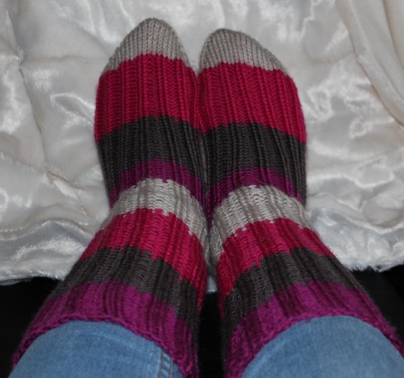 hjemmestrikket sokker
