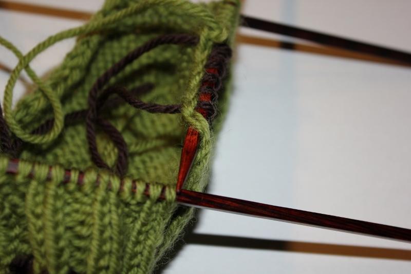 ta opp kantmasker når man strikker sokker