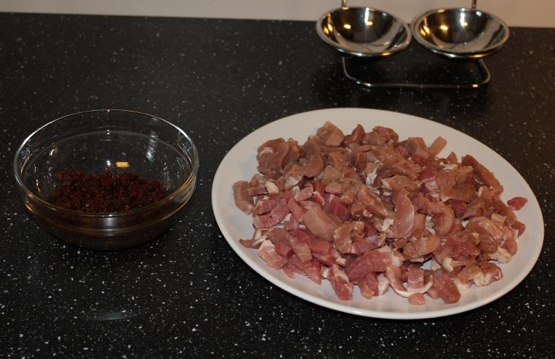 strimlet svinekjøtt og hjemmelaget tacokrydder