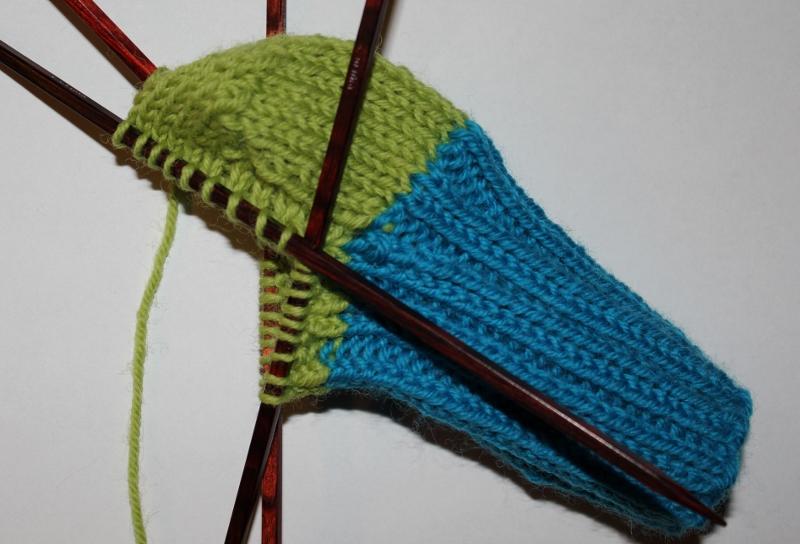 lær å strikke hæl