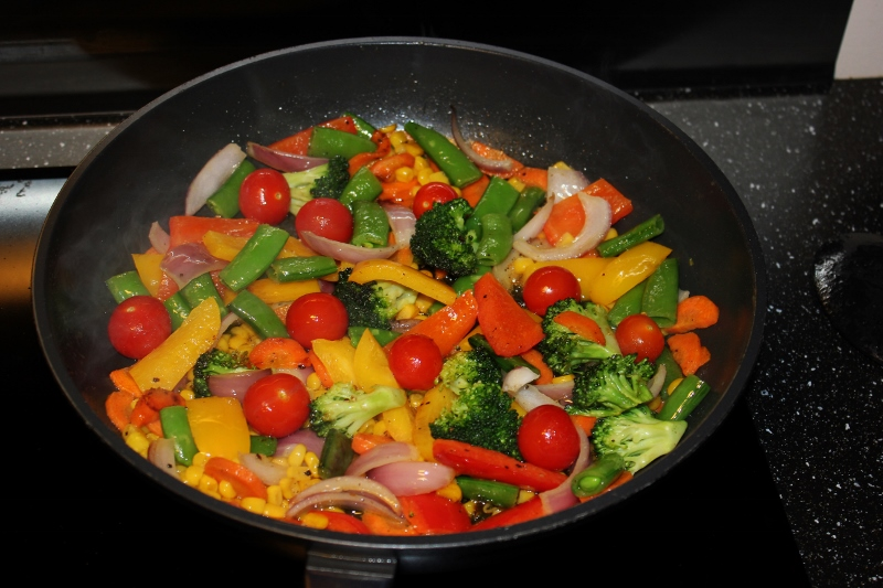 stekte grønnsaker