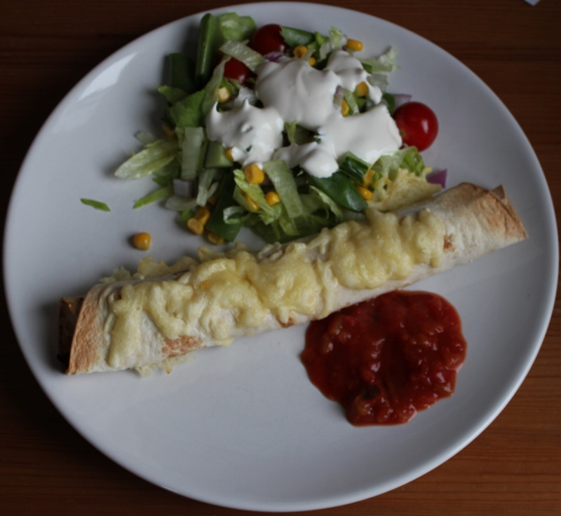 gratinert burrito