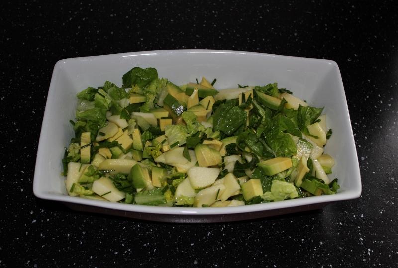 avocado og eplesalat