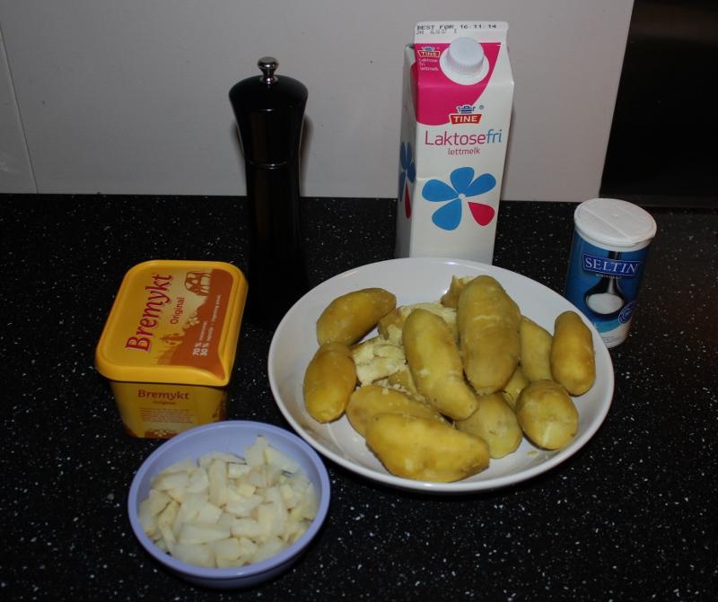 ingredienser hjemmelaget potetstappe