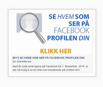 se hvem som ser på facebook profilen din