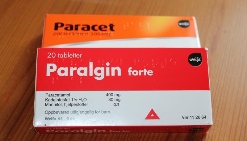 paralgin forte og paracet