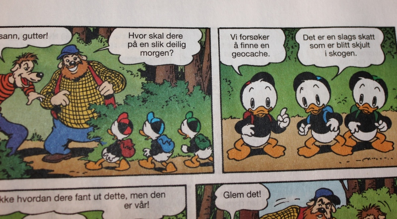 Donald Duck geocaching