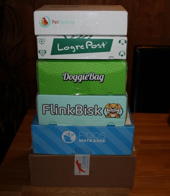 hundepakke i posten hver måned abonnement hundepakke